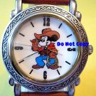 Vintage Disney Mickey Mouse Rodeo Western Cowboy Watch