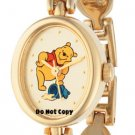 NEW Disney Winnie The Pooh Honey Pot Gold Links Watch