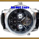 NEW Men CTI 27Jewels Multifuction Dual Timer AUTO Watch