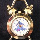 BRAND NEW Disney Eeyore Mini Gold Twin Bell Clock HTF