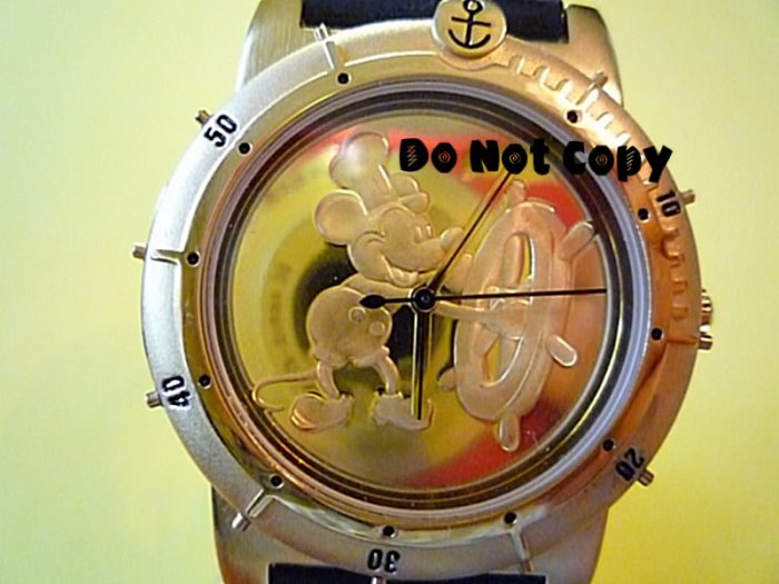 NEW Mens Disney Mickey Mouse Steamboat Willie Watch HTF