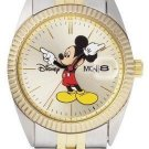 NEW Mens Disney/Seiko Mickey Mouse Date/Day 2-ToneWatch