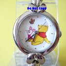 NEW Silver Winnie The Pooh Piglet Butterfly Link Watch