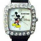 NEW Ladies Disney Mickey Mouse Rhinestones Watch HTF