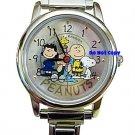 NEW Armitron Peanuts Snoopy & Friends Italian Charm Watch