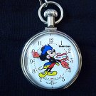 Disney Mickey Mouse Bradley Bicentennial Pocket Watch