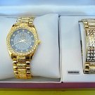 NEW Men's Calvin Hill Diamond Watch w/ Bracelet Set