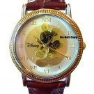 NEW Disney Mickey Mouse Gold Silhoutte Coin Watch HTF