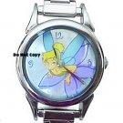 NEW Disney Tinkerbell Italian Charm Flower Silver Watch