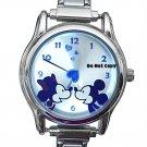 NEW Disney Mickey Minnie Mouse Italian Charm Love Watch