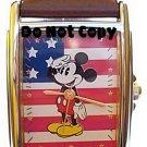 NEW Unisex Disney Mickey Mouse American Flag Watch HTF
