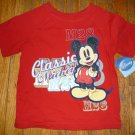 BRAND NEW Classic Mickey Mouse Red Tshirt Size 4T