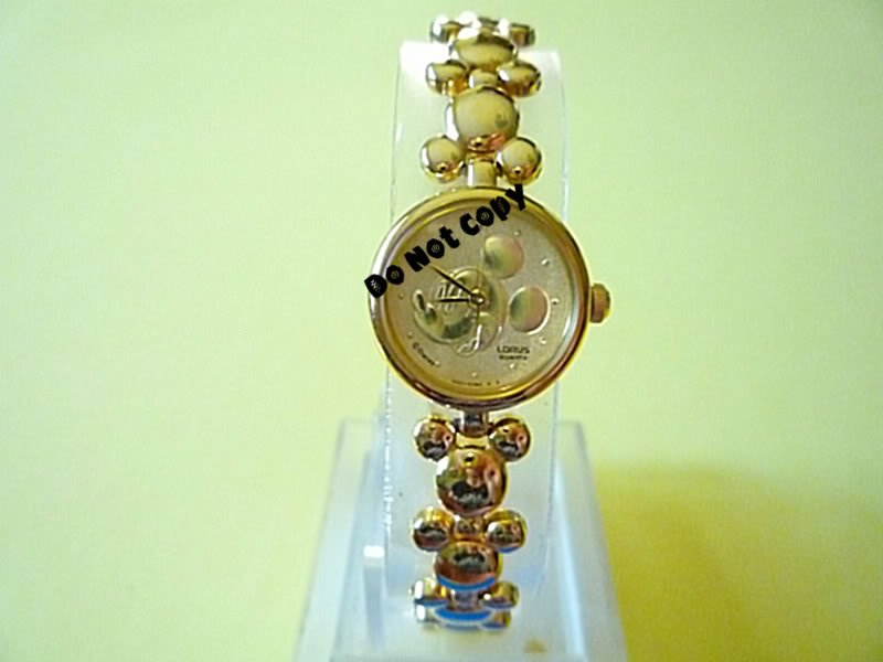 NEW Disney Mickey Mouse Embossed Gold Icon Watch HTF