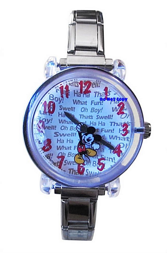 NEW Disney Mickey Mouse Animated Italian Charm Watch