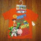 NEW Disney Pixar Toy Story 3 Orange T-shirt Size 4/5