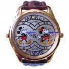 NEW Disney Lorus Mickey Minnie Mouse 2 Time Zone Watch