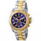 NEW Men Invicta II Blue Sport Multifunctional 18K Watch