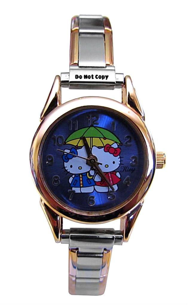 BRAND NEW Double Hello Kitty Italian Charm Watch