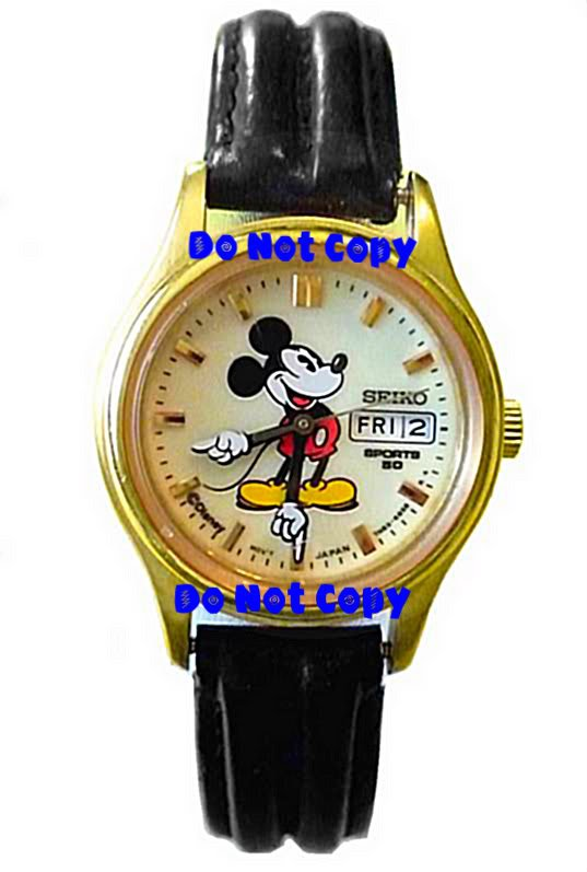 NEW Men's Disney Mickey Mouse Lumibrite Date SEIKO Watch HTF