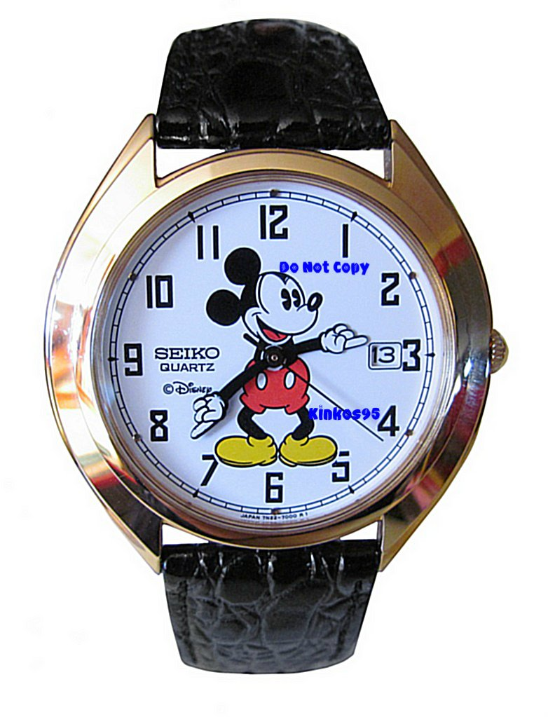 NEW Men's Disney Mickey Mouse SEIKO Date Watch HTF
