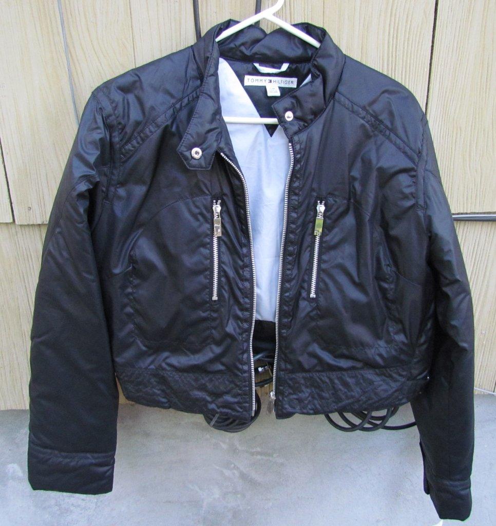 NEW Ladies Tommy Hilfiger Black Jacket Size Large