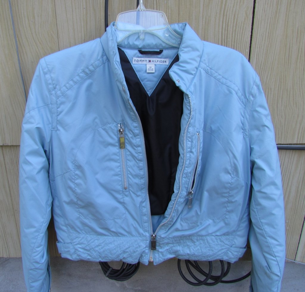 NEW Ladies Tommy Hilfiger Light Blue Jacket Size M