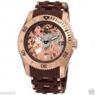 NEW Mens Invicta 18K Gold Sea Collection Skeleton Mechanical Watch