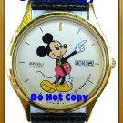 NEW Ladies Disney Mickey Mouse SEIKO Date Day Watch HTF