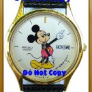 NEW Men's Disney Mickey Mouse SEIKO Date Day Watch HTF