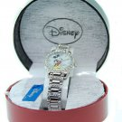 NEW Ladies Disney Mickey Mouse Austrian Crystals Silver Watch HTF