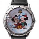NEW Disney Mickey & Minnie Mouse Snowman Christmas Watch HTF
