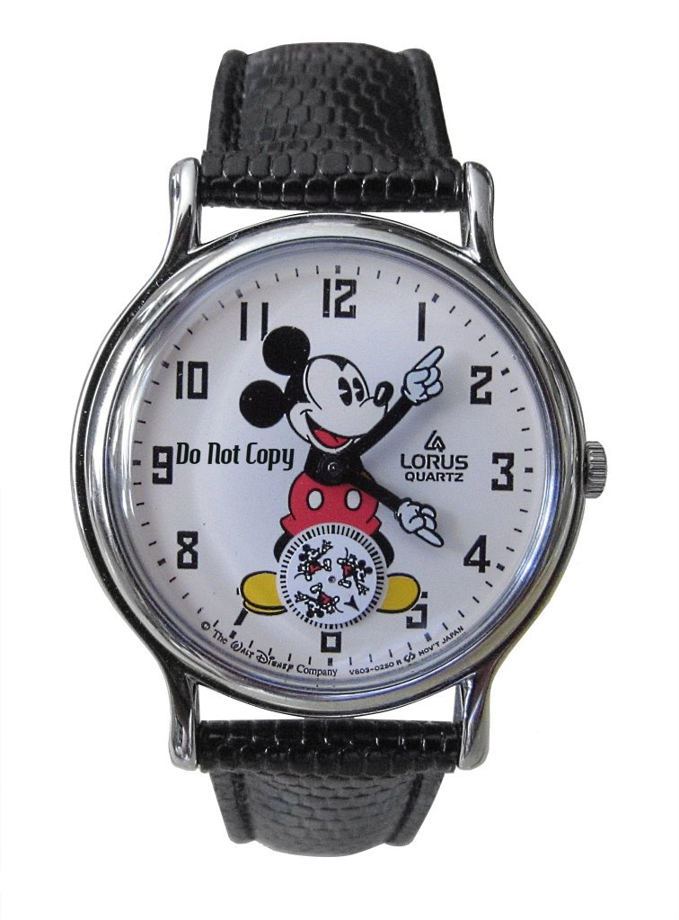 Vintage NEW Mens Disney Lorus Mickey Mouse Watch HTF