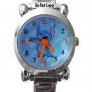 NEW Disney Lilo & Stitch Italian Charm Silver Watch HTF