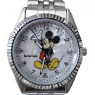 NEW Disney Men's Mickey Mouse Silver Watch HTF