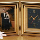 Brookwood Folding Clock and Picture Frame NEW