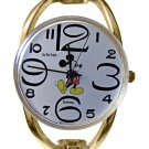 Ladies Vintage Mickey Mouse Gold Bangle Watch HTF