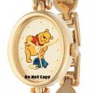 NEW Disney Winnie The Pooh Honey Pot Gold Links Watch HTF