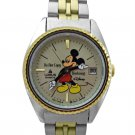 NEW Disney Lorus Ladies Mickey Mouse Day 2Tone Watch HTF