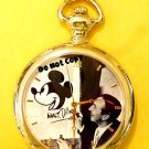NEW Disney Mickey Mouse Limited Edition Gold Pocket Watch