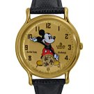 Vintage NEW Mens Disney Lorus Mickey Mouse Gold Watch HTF