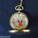 NEW Disney Fossil Mickey Mouse Sorcerer Fantasia Pocket Watch HTF