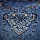 Ladies Angels Blue Embellished Jeans Juniors Size 11