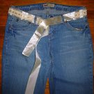 NWOT Ladies LEI Ashley Ultra Low Rise Embellished Jeans Juniors Size 9