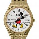 NEW Ladies Disney Mickey Mouse Gold SEIKO Date Watch HTF