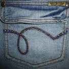 NWOT Ladies HINT Stretch Studs Jeans Juniors Size 11