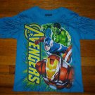 NEW Marvel Avengers Iron Man, Captain America, The Hulk Boys Tshirt Size 8