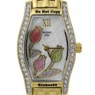 NEW Ladies Armitron Swarovski Gold Mother of Pearl Flower Watch 3680