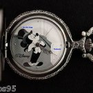 NEW Disney Mickey Mouse Minnie Limited Edition Tuxedo Pocket Watch HTF
