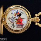 "NEW Disney Mickey Mouse Limited Edition ""The Bandleader"" Gold Pocket Watch HTF"