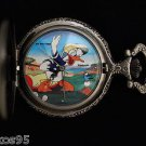 "NEW Disney Donald Duck "" Golf Game"" Par Excellence Pocket Watch HTF"